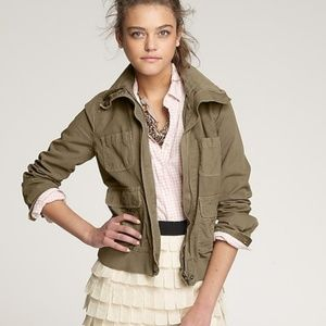 J. Crew Twill Bomber Jacket Olive Army Green 0